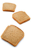 Slices of bread. Isolated on white background stock photos