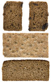 Slices of bread. Different slices of bread isolated on white Royalty Free Stock Photography