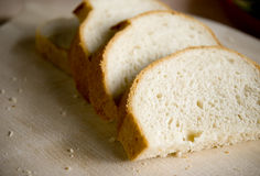 Slices of bread. Fresh bread Stock Images