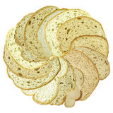 Slices of bread as a flower head Royalty Free Stock Images