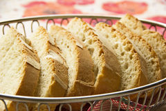 Slices of bread in basket Royalty Free Stock Image