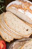 Slices of bread. Closeup of a slices of white bread Royalty Free Stock Photography