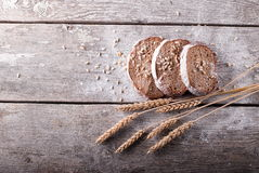 Slices of bread and ears Royalty Free Stock Photo