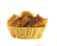 Slices of bread from a flour of a rasping grinding Stock Image