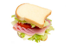 Slices of bread with ham and salad Stock Images