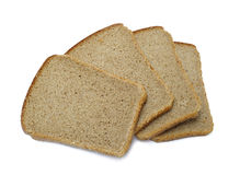 Slices of bread isolated Royalty Free Stock Images