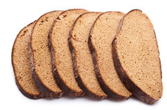 Slices of bread isolated on white Royalty Free Stock Images