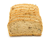 Bread. Slices of bread isolated on white background Royalty Free Stock Photography