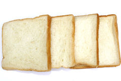 Slices of bread isolated on white background Royalty Free Stock Photo