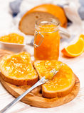 Slices of bread with jam Royalty Free Stock Photography