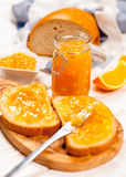 Slices of bread with jam Royalty Free Stock Photo
