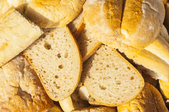 Slices of bread and other baked goods. Royalty Free Stock Image