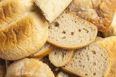 Slices of bread and other baked goods. Stock Photography