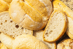 Slices of bread and other baked goods. Royalty Free Stock Photos
