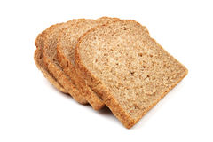 Slices of bread from rye and wheat flour Royalty Free Stock Photo