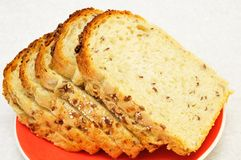 Slices of bread with seeds Royalty Free Stock Photos