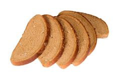 Slices of bread with sunflower seeds Stock Photography