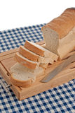 Slices of bread on top of wooden Royalty Free Stock Photography
