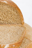 Slices of bread. On a white background royalty free stock image