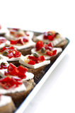 Finger food(canapes) Royalty Free Stock Photos