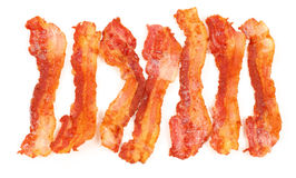 Slices of breakfast bacon Royalty Free Stock Image