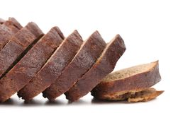 Slices of brown bread Royalty Free Stock Images