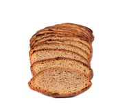 Slices of brown bread Stock Photos