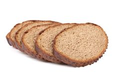 Slices of brown bread. Stock Photography