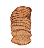 Slices of brown bread. Stock Images