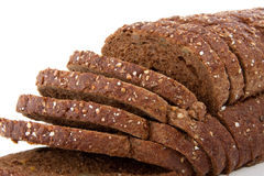 Slices of brown whole grain bread Royalty Free Stock Images