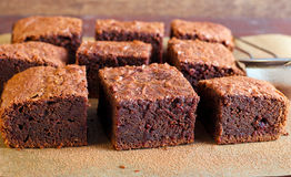 Slices of brownies Stock Images