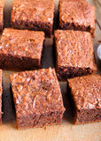 Slices of brownies Stock Photo