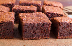 Slices of brownies Royalty Free Stock Photos