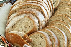 Slices of the Bulgarian bread. Stock Images