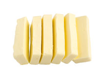 Slices of Butter Isolated Stock Image