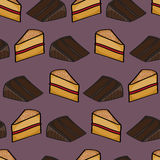 Slices of Cake Background Stock Photo