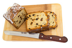 Slices of cake with raisins Stock Photography
