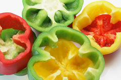 Slices on Capsicums Royalty Free Stock Photos