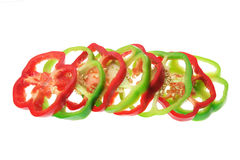 Slices of Capsicums Royalty Free Stock Images