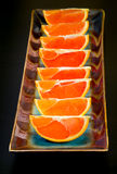 Slices of  the cara cara oranges with its pinkish red color inte Stock Photography