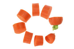 Slices of Carrot Royalty Free Stock Photography