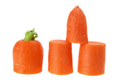 Slices of Carrot Royalty Free Stock Photos