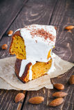 Slices of carrot cake Stock Image
