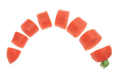Slices of Carrots Stock Image