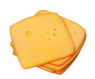Slices of cheese Royalty Free Stock Image