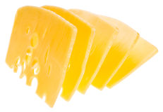 Slices cheese Stock Images