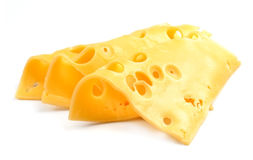 Slices of cheese isolated Royalty Free Stock Image