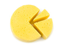 Slices of cheese lika a circle diagram Stock Photo