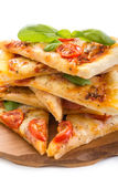 Slices of Cheese Margarita Pizza Royalty Free Stock Photos