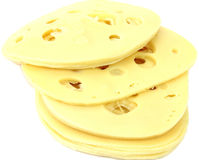Slices of cheese. Stock Image